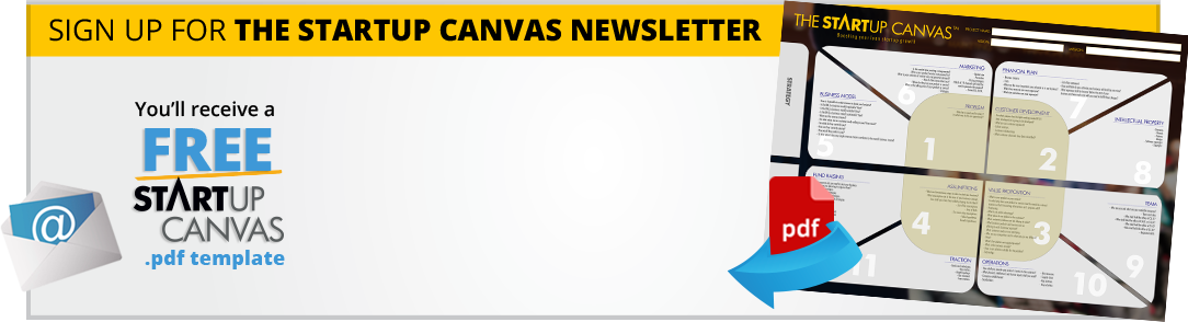 Subscribe and Download the startup canvas | Download the startup canvas