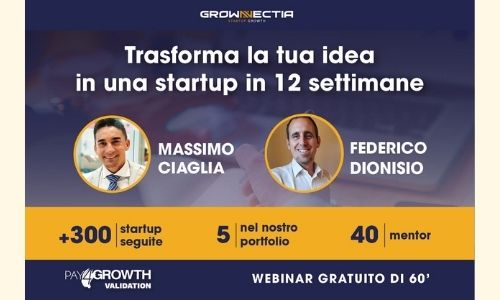 Webinar di presentazione del Pay4growth Validation